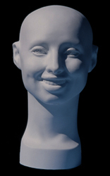 Smiling Female Head